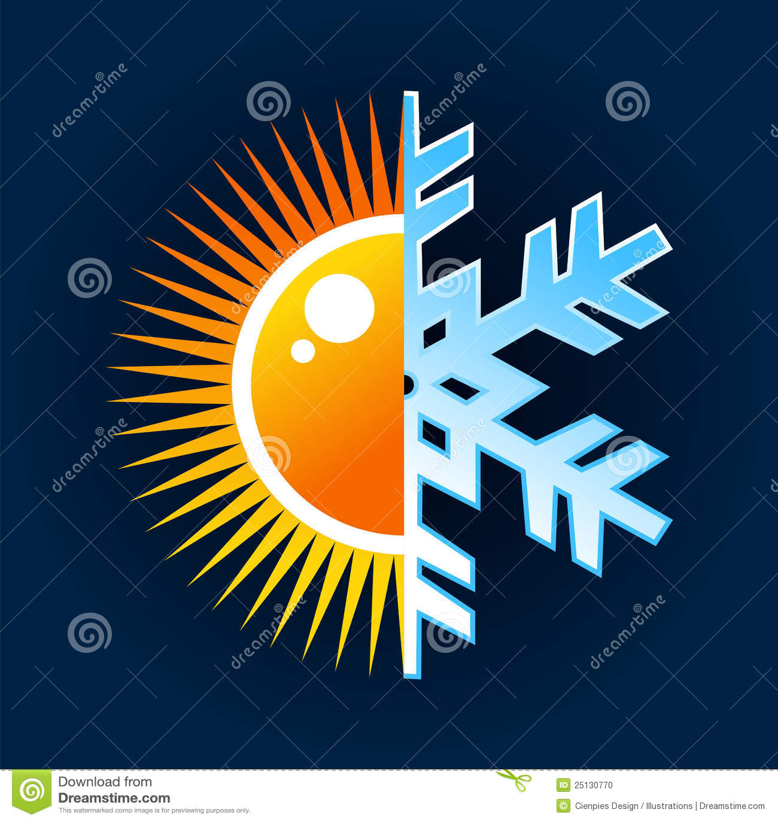 Hot And Cold Temperature Symbol Stock Vector