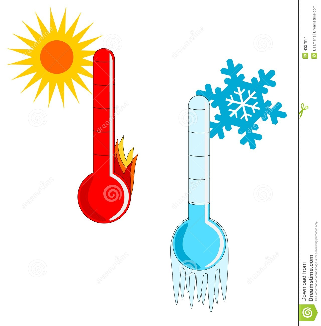 Hot And Cold Weather Stock Vector Illustration Of Season