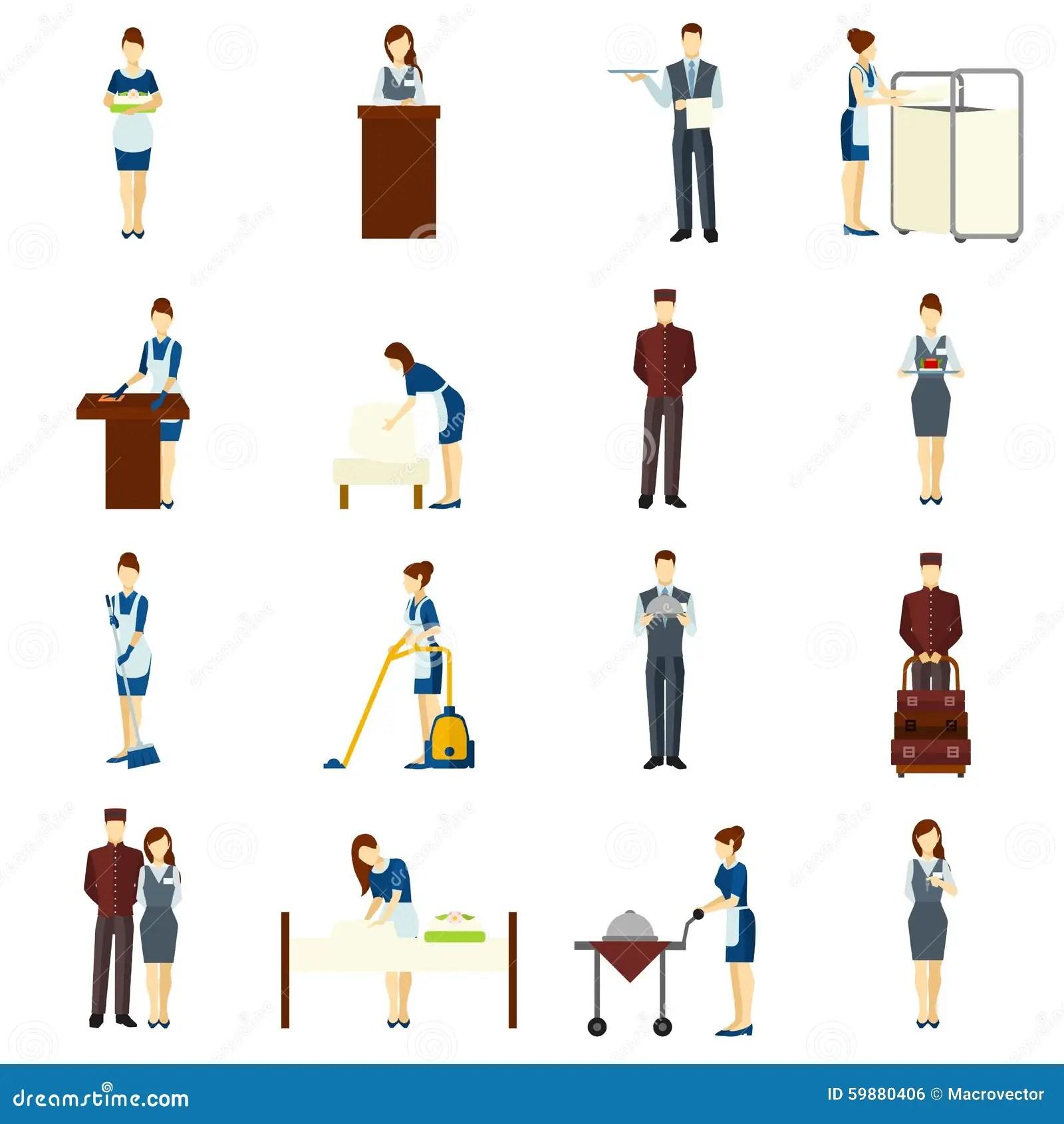 Hotel Staff Set Stock Vector Illustration Of Adult