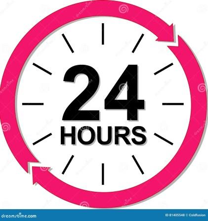 24 hours logo. stock vector. Illustration of order, element - 81405548