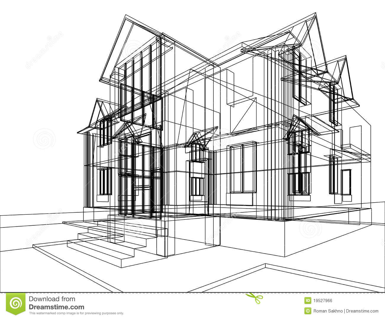 House Construction Sketch Royalty Free Stock Image