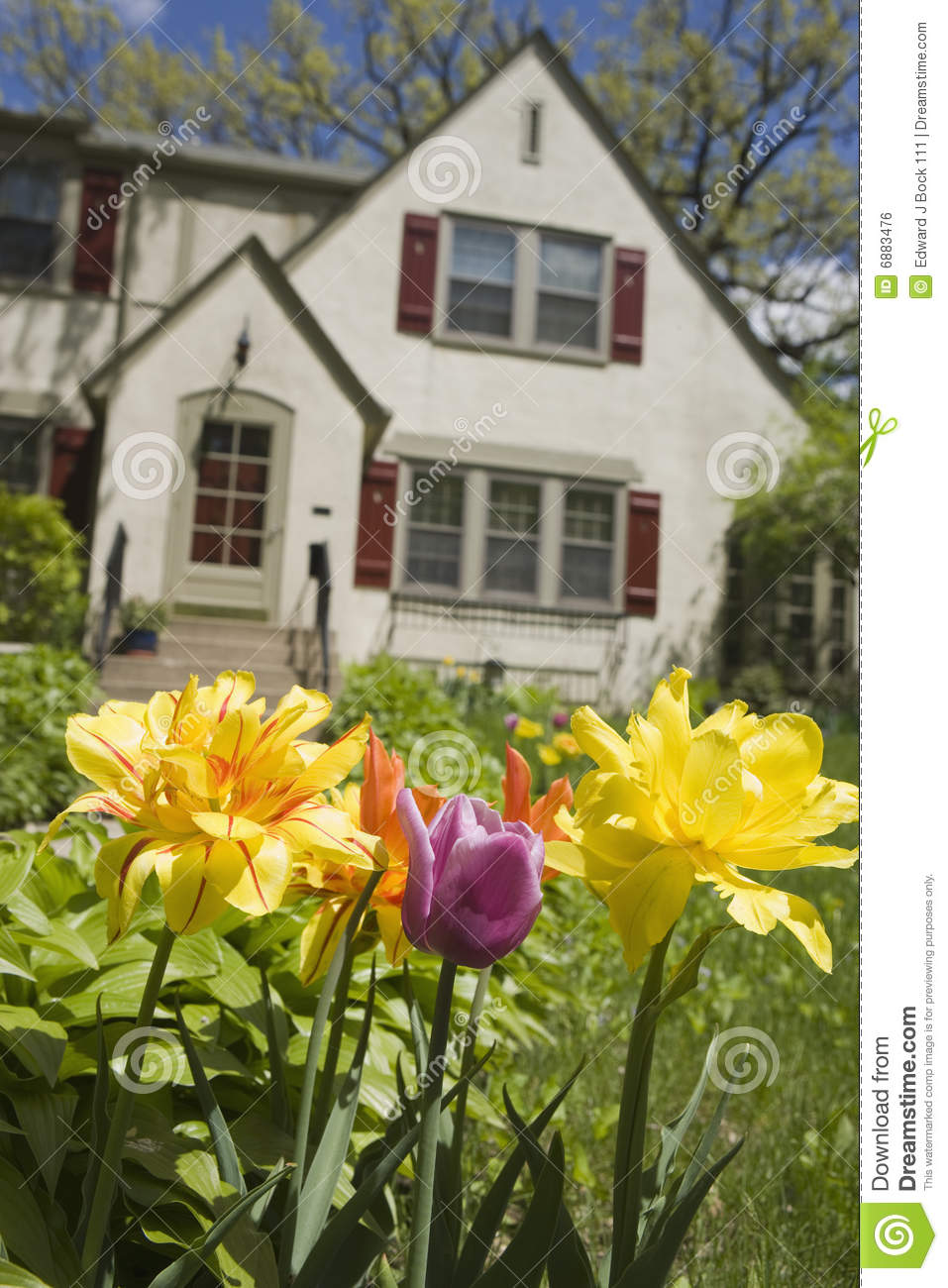 Flowers Front House