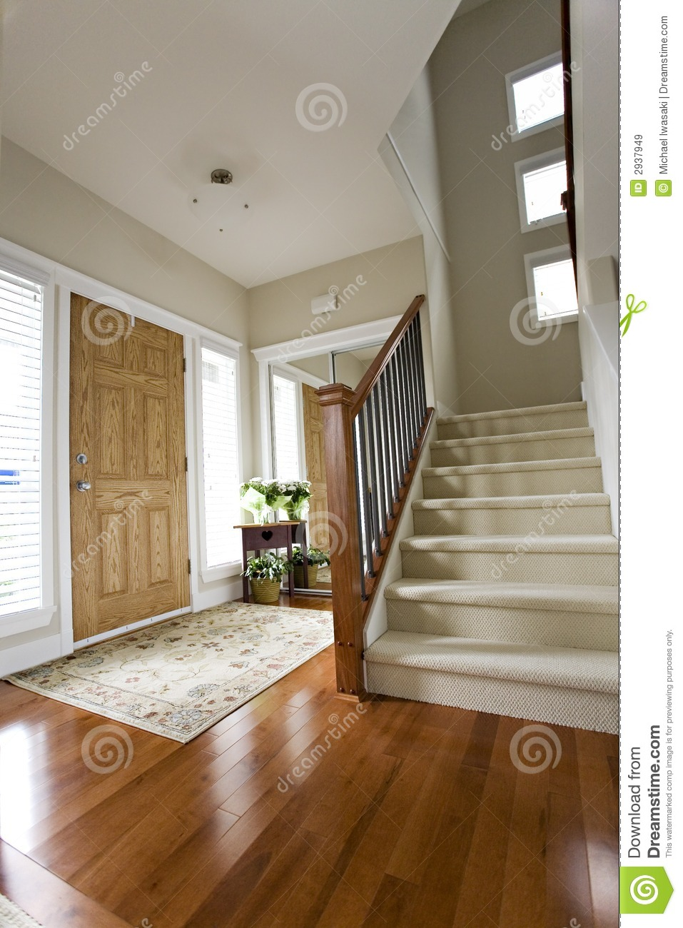 House Front Hall Entrance Royalty Free Stock Images