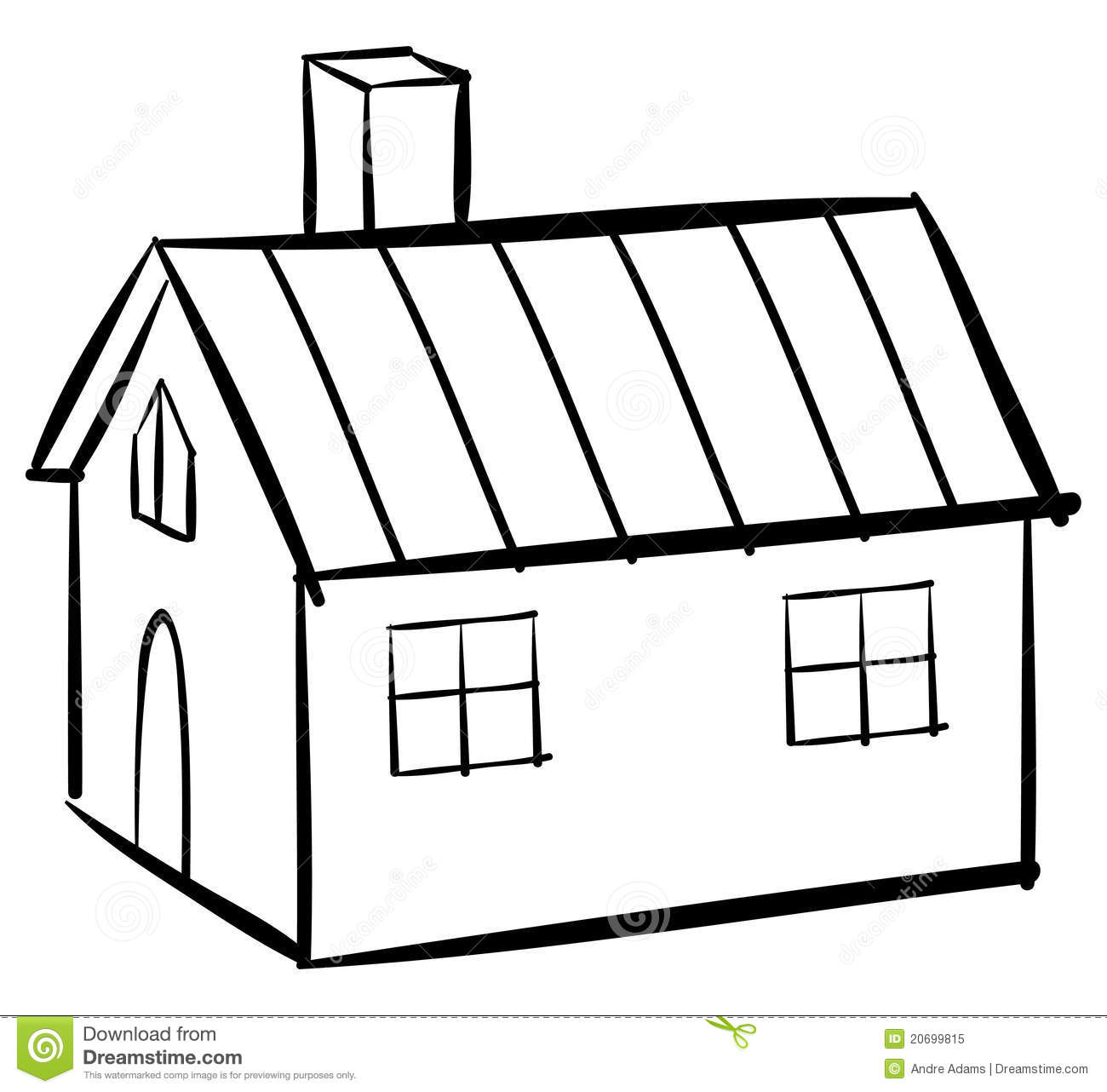 House Outline Stock Vector Illustration Of Home Book