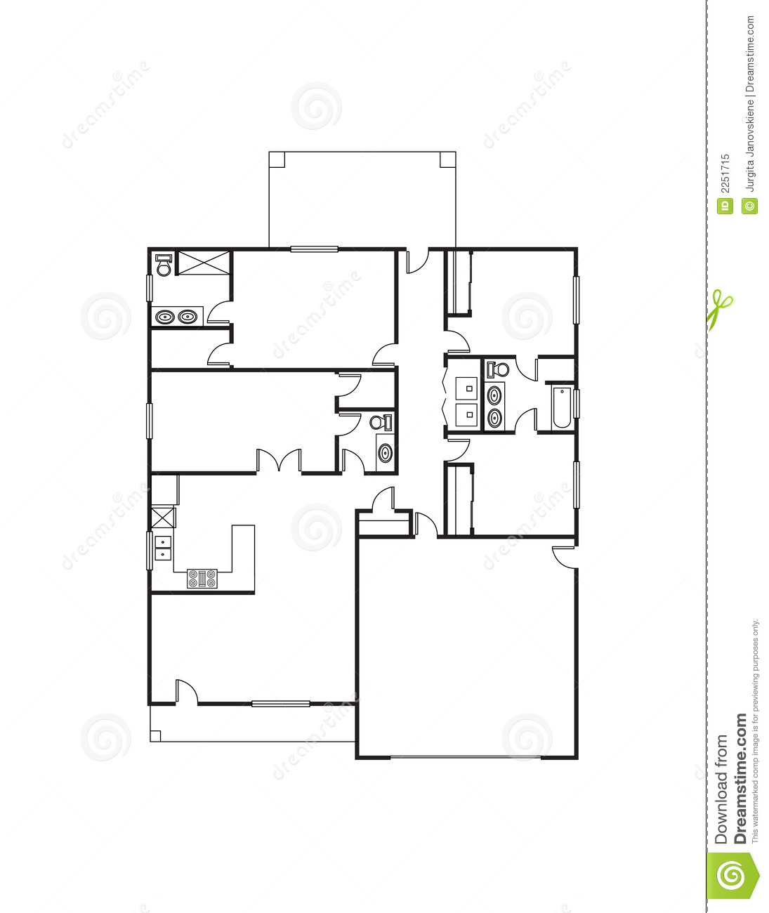 House Plan Royalty Free Stock Photo