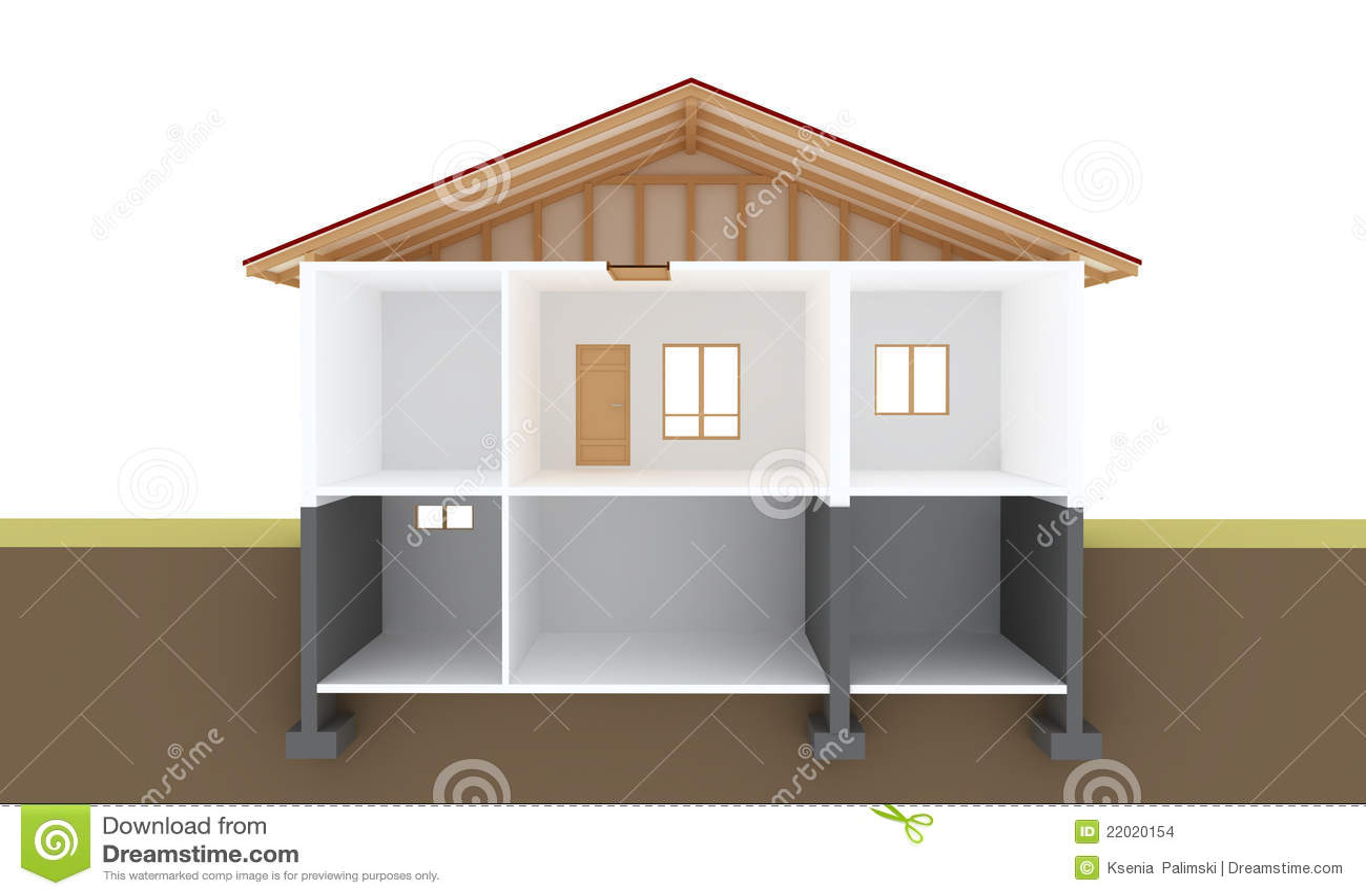 House Section Stock Illustration Illustration Of Engineering 22020154