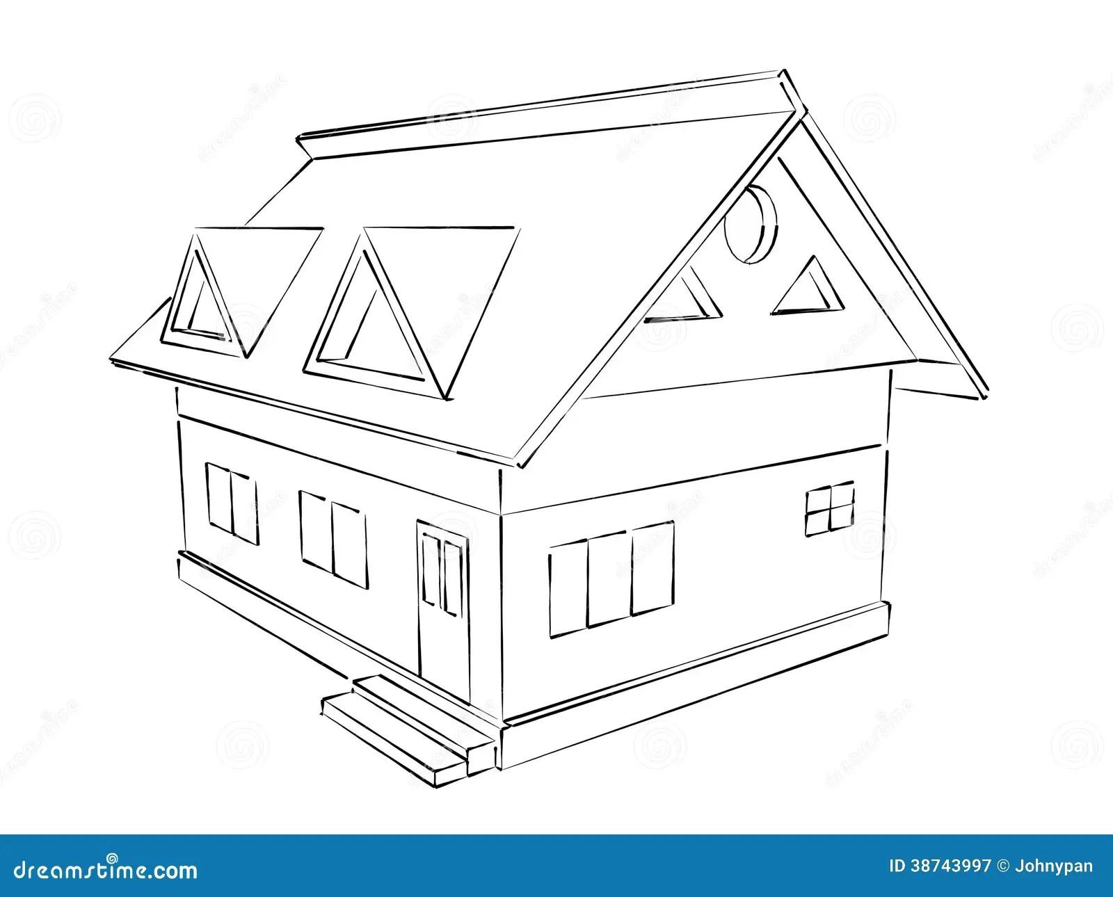House Sketch Stock Illustration Illustration Of Empty