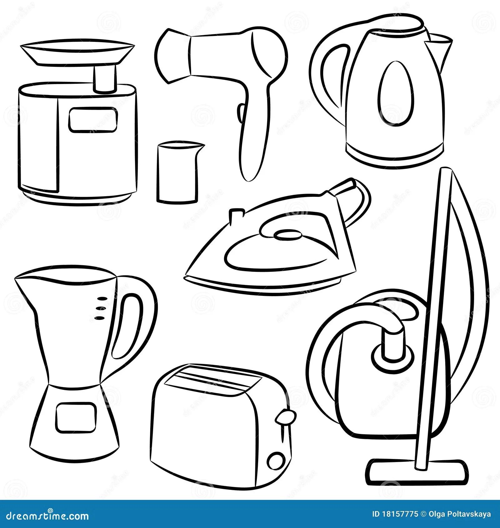 Household Appliances Stock Vector Image Of Household