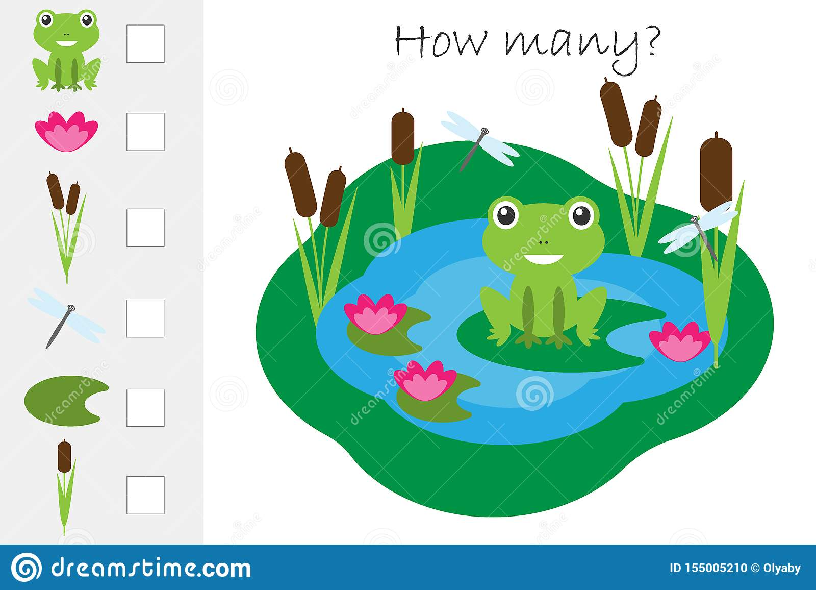 How Many Counting Game Pond With Frog For Kids