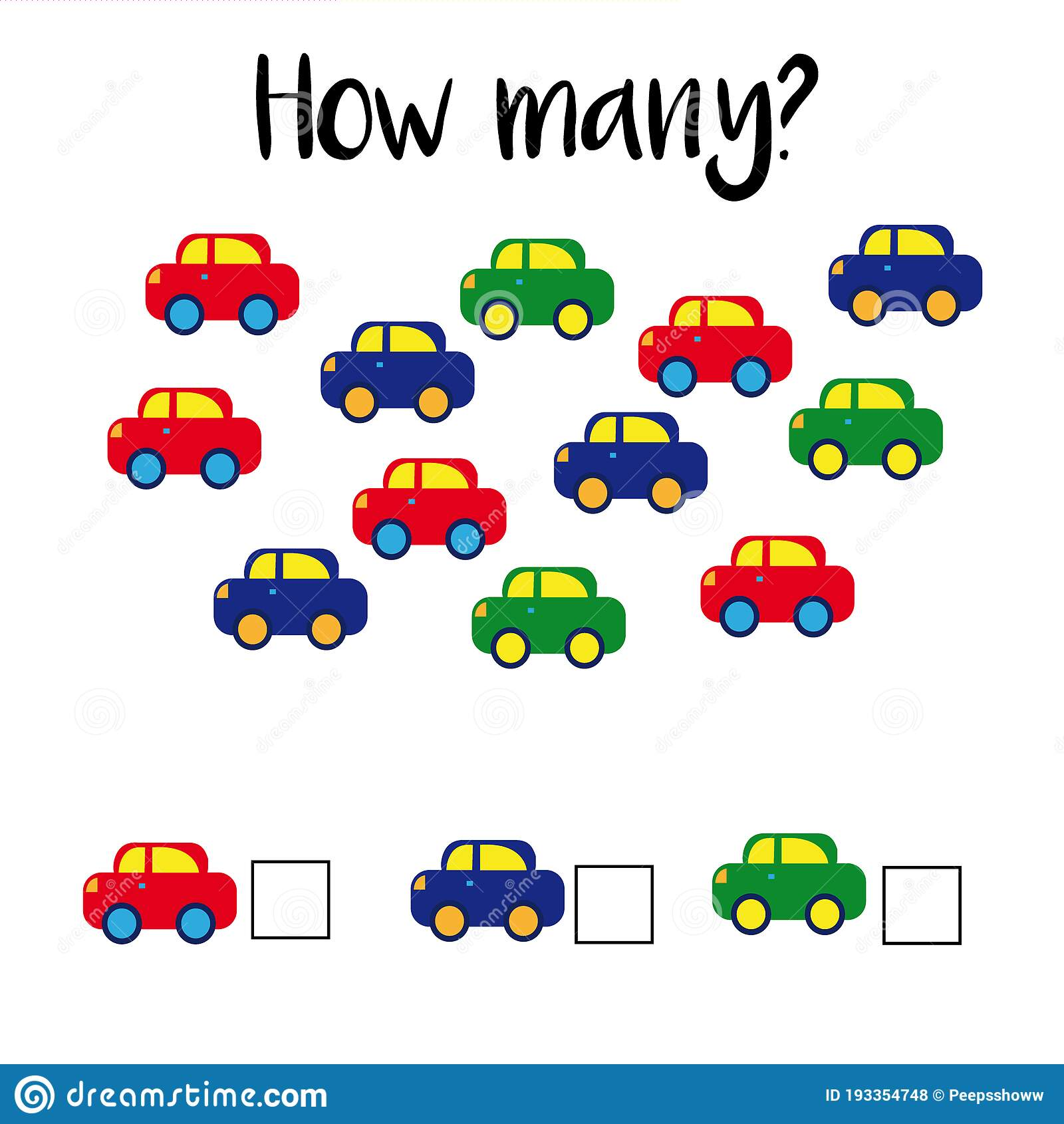 How Many Objects Preschool Counting Activities Printable