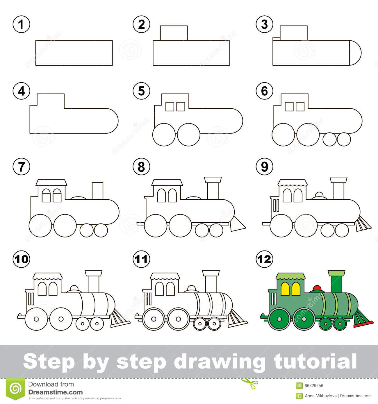 35 Latest Steam Train Drawing Easy