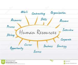 HR Human Resources Diagram Model Stock Illustration
