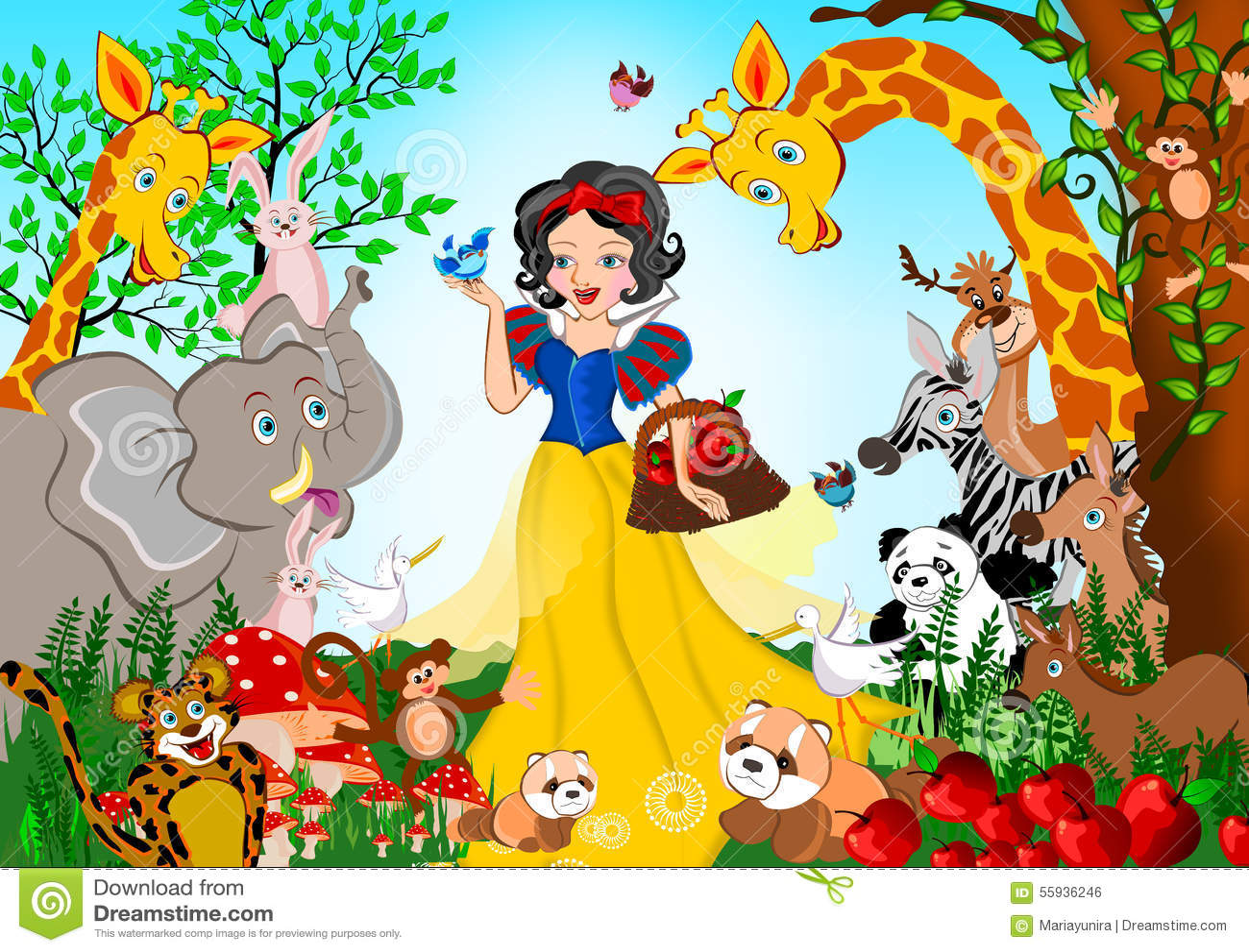 Snow White Stock Illustration Illustration Of