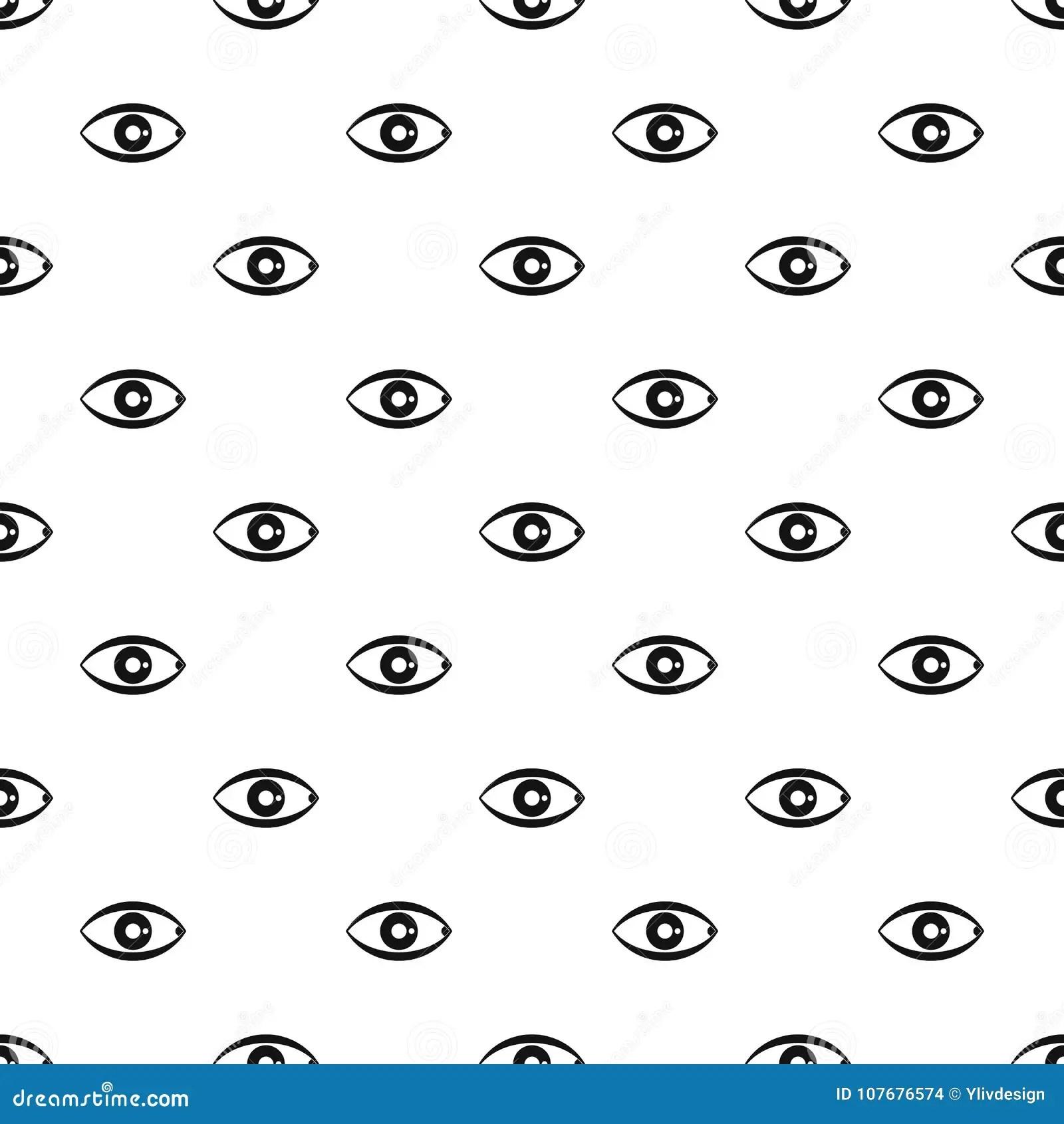 Human Eye Pattern Vector Stock Vector Illustration Of
