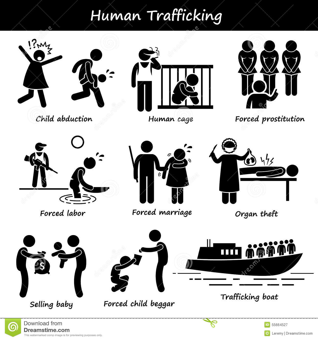 Human Trafficking Clipart Stock Vector Illustration Of