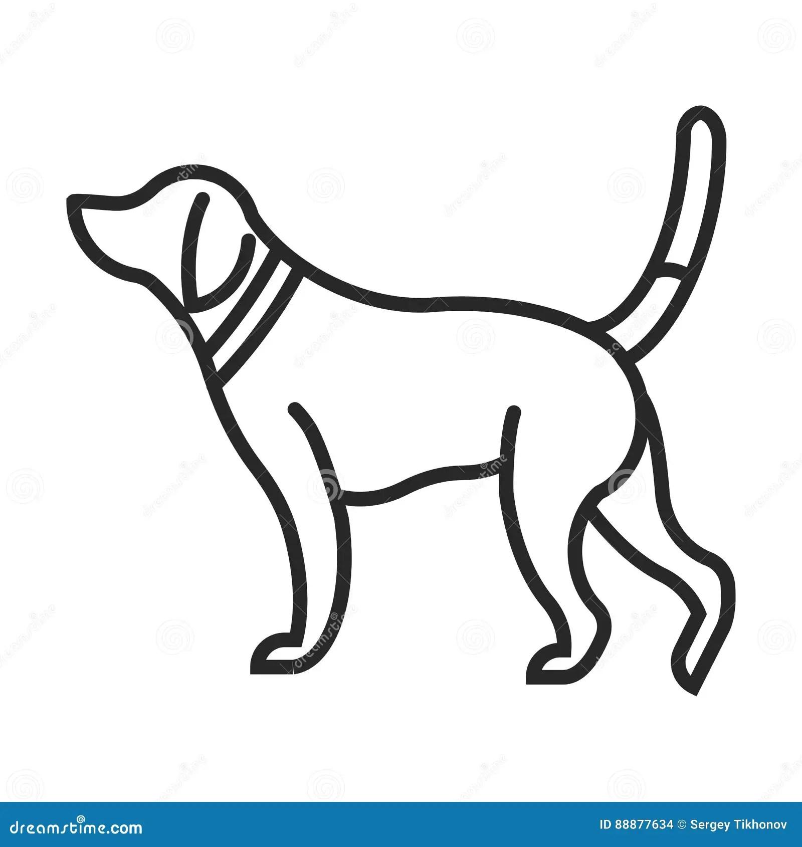 Hunting Dog Icon Stock Illustration Illustration Of