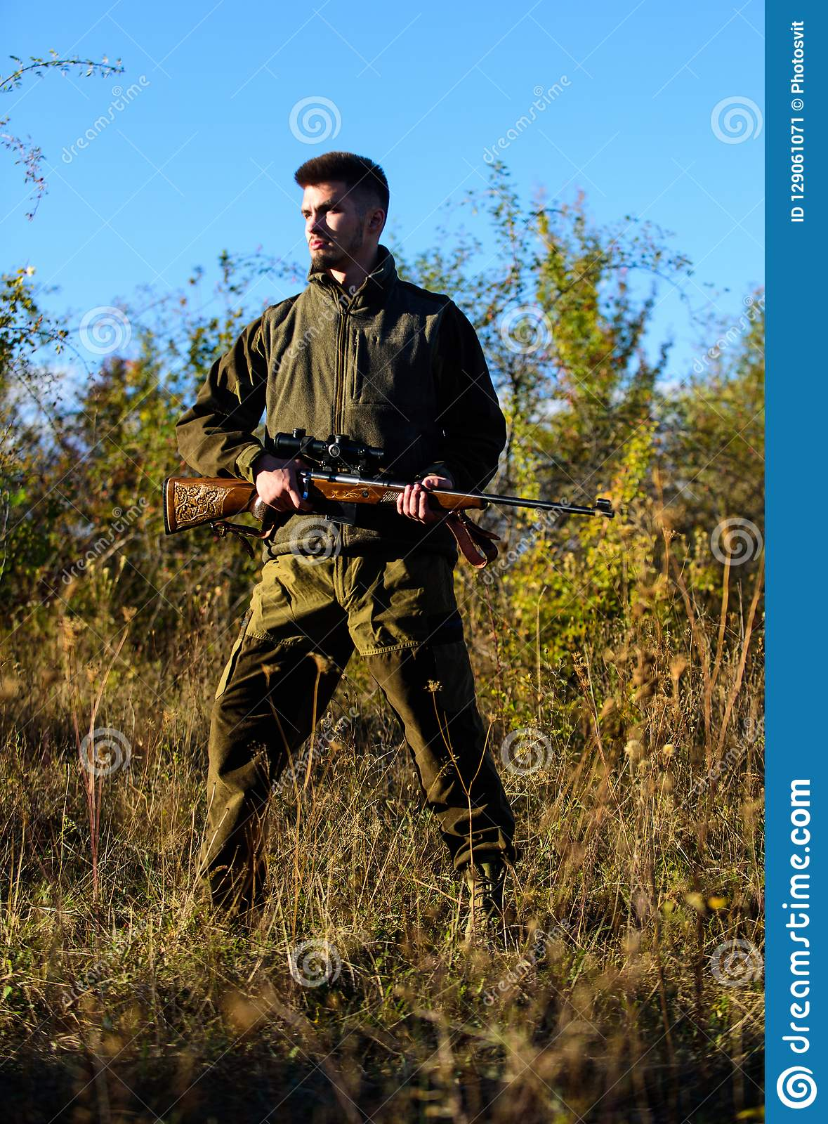 Hunting Hobby Concept Hunting Season Experience And Practice Lends Success Hunting Masculine