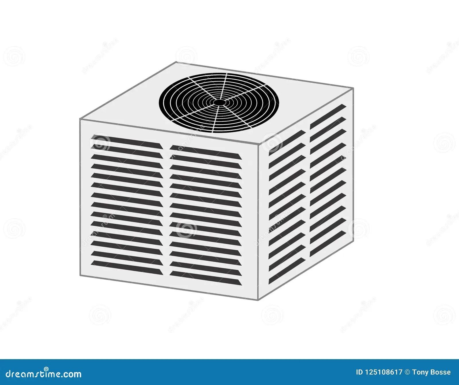Hvac Condenser Unit Illustration Stock Illustration