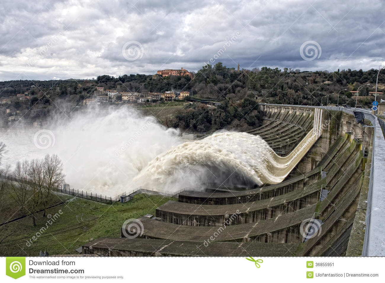 Hydroelectric Power Plant Stock Image Image Of Falls
