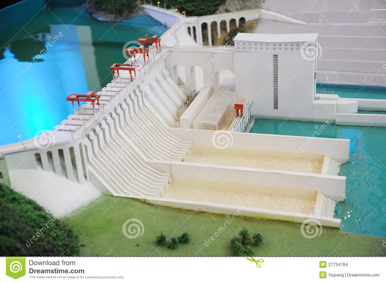 Hydropower Station Model Stock Photo Image Of Flow Energy