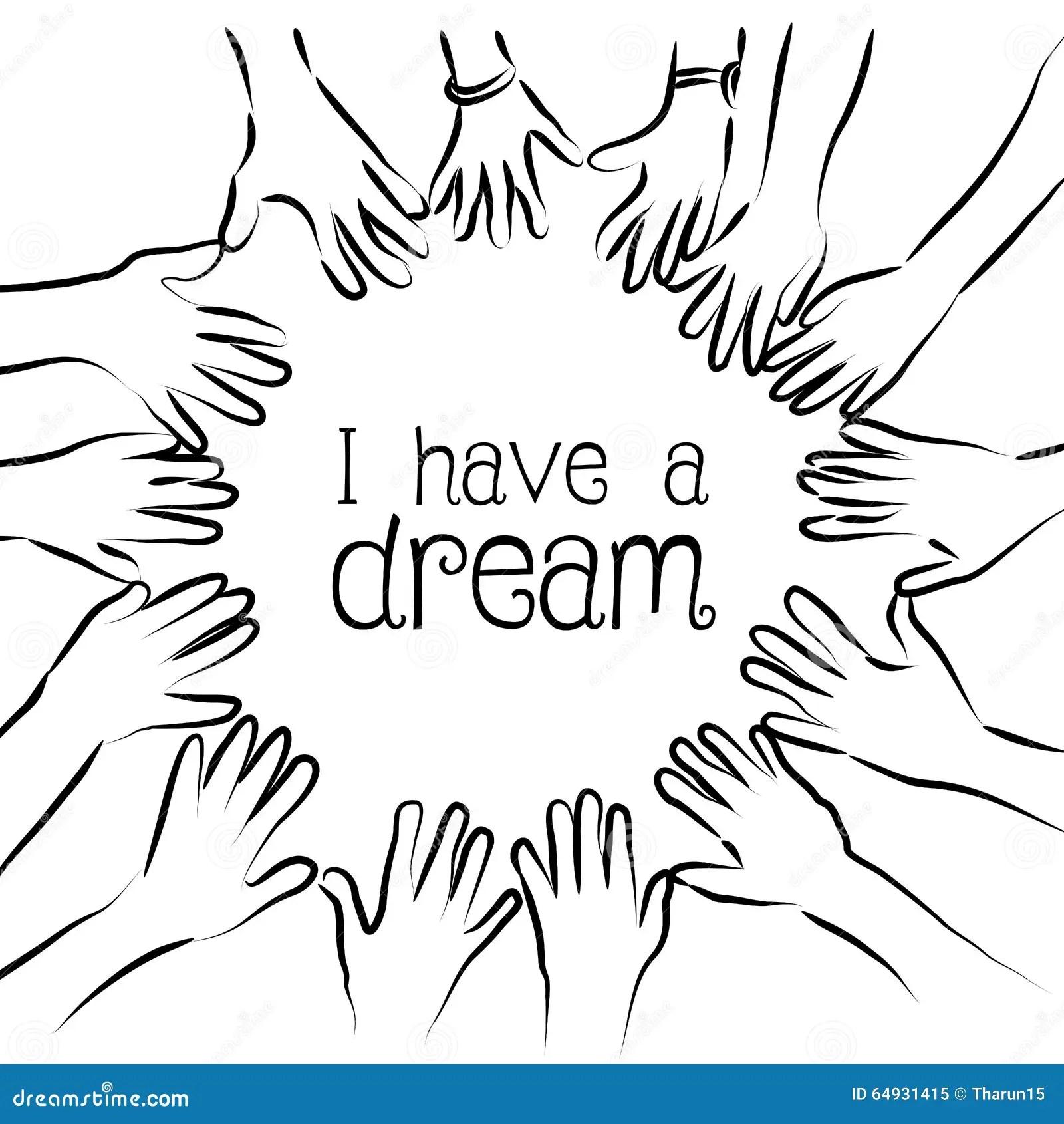 I Have A Dream Stock Illustration