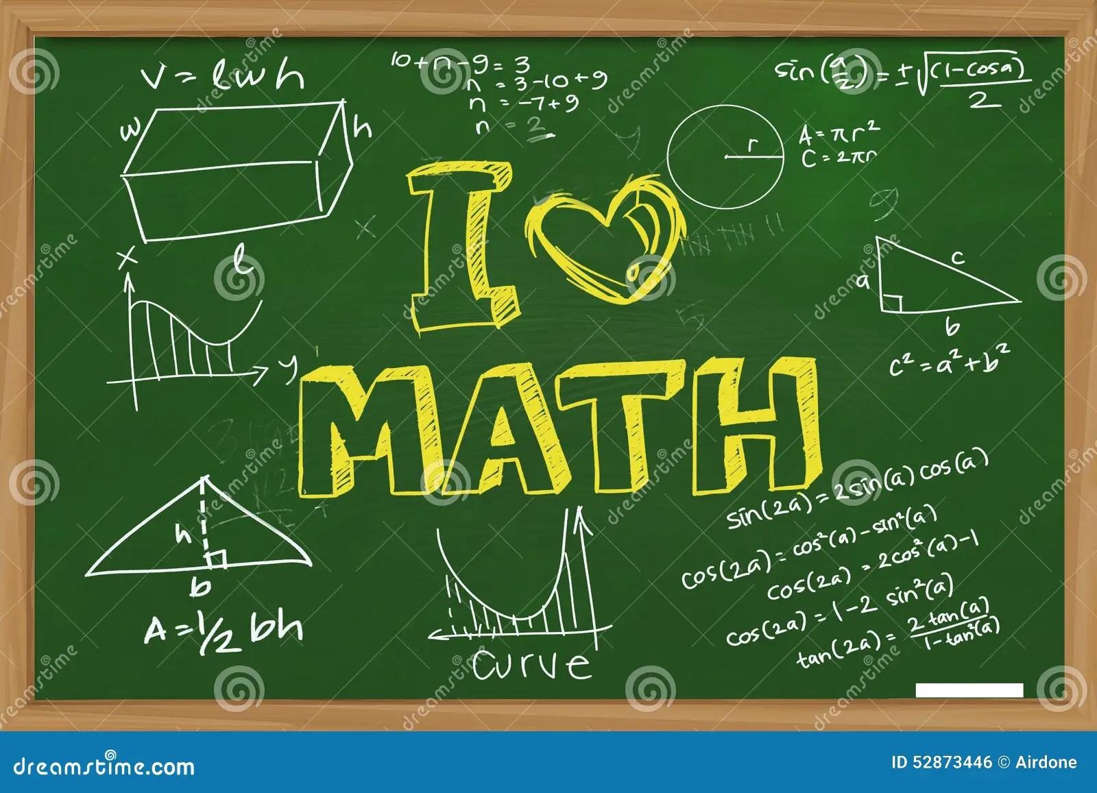 I Love Math Stock Photo Image Of Clip Mathematics Block