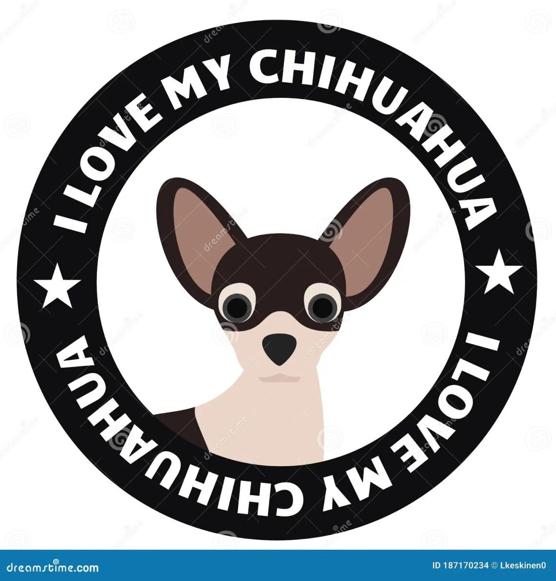 Download I love my chihuahua badge stock illustration. Illustration ...