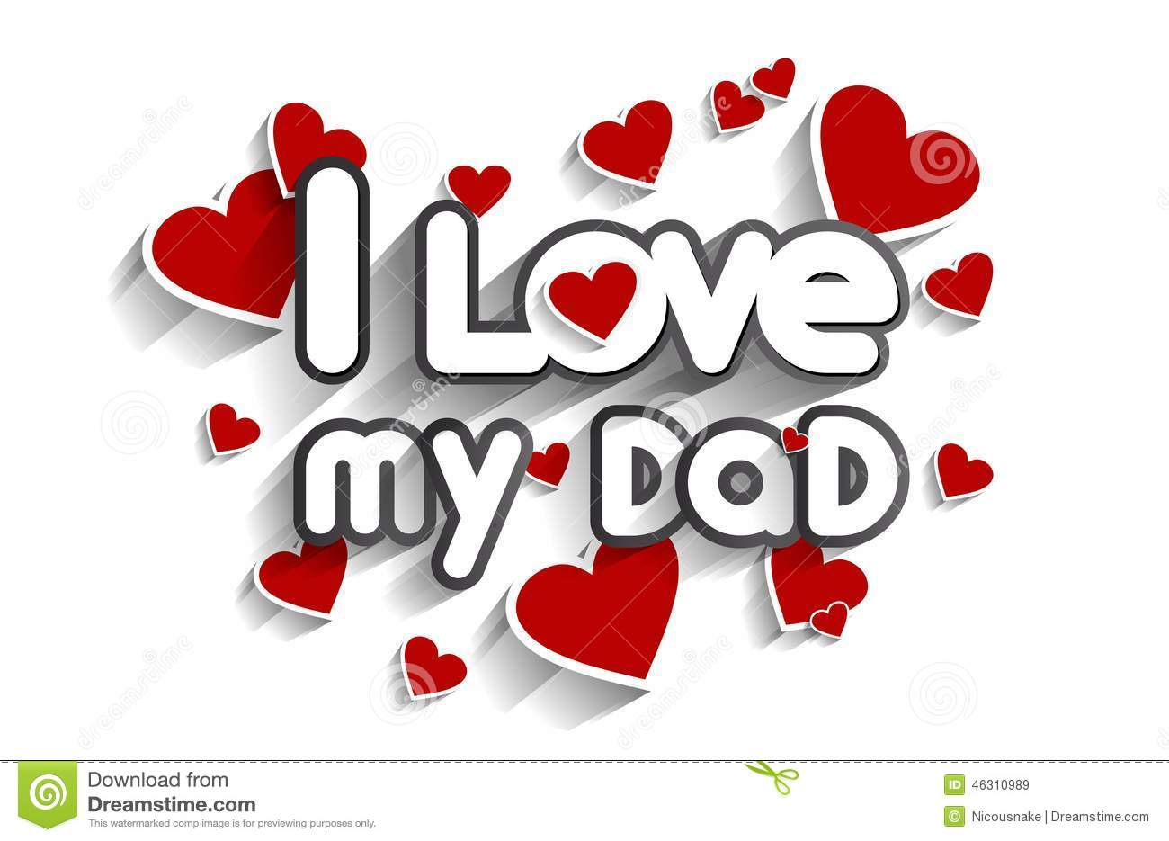 I Love My Dad Stock Vector Image Of Cartoon Eps10 Happy