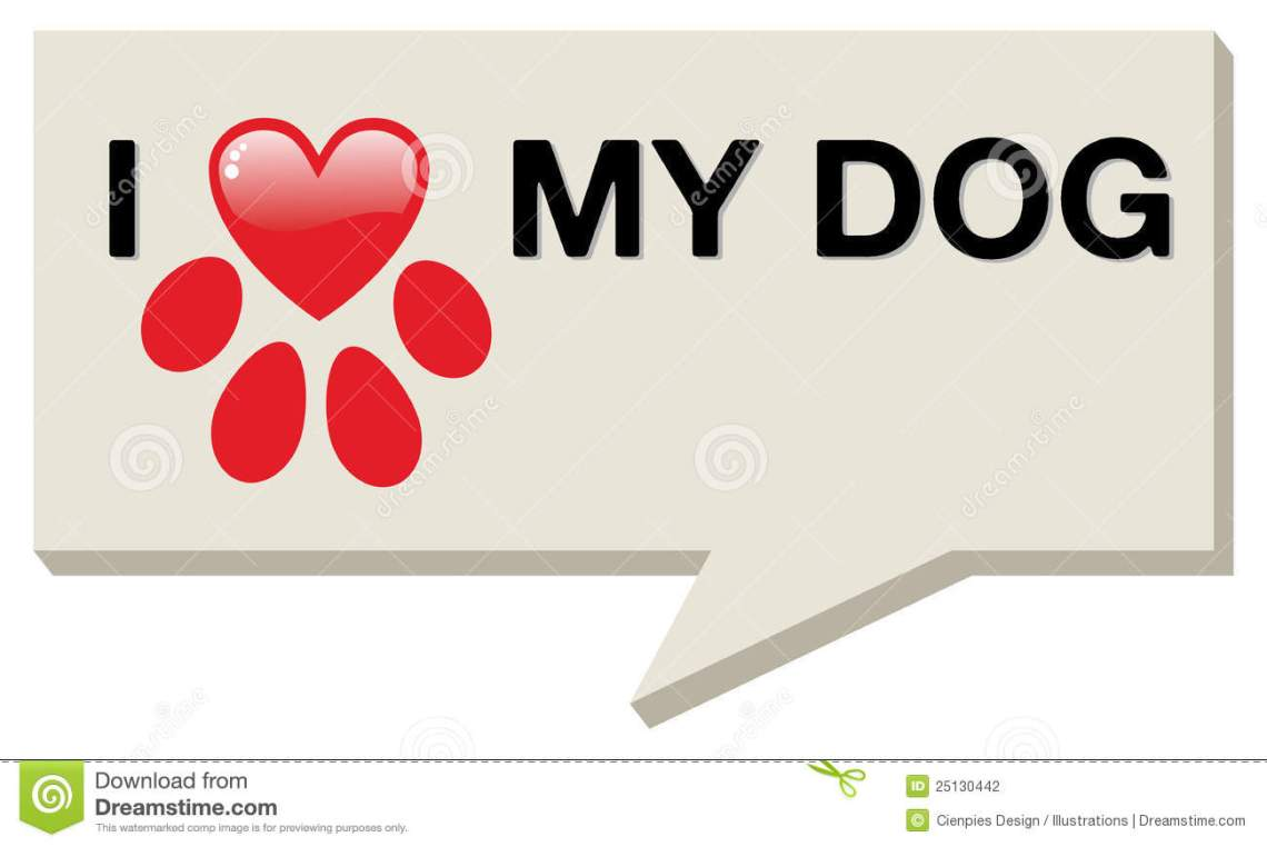 Download I Love My Dog With Paw Heart Stock Vector - Illustration ...
