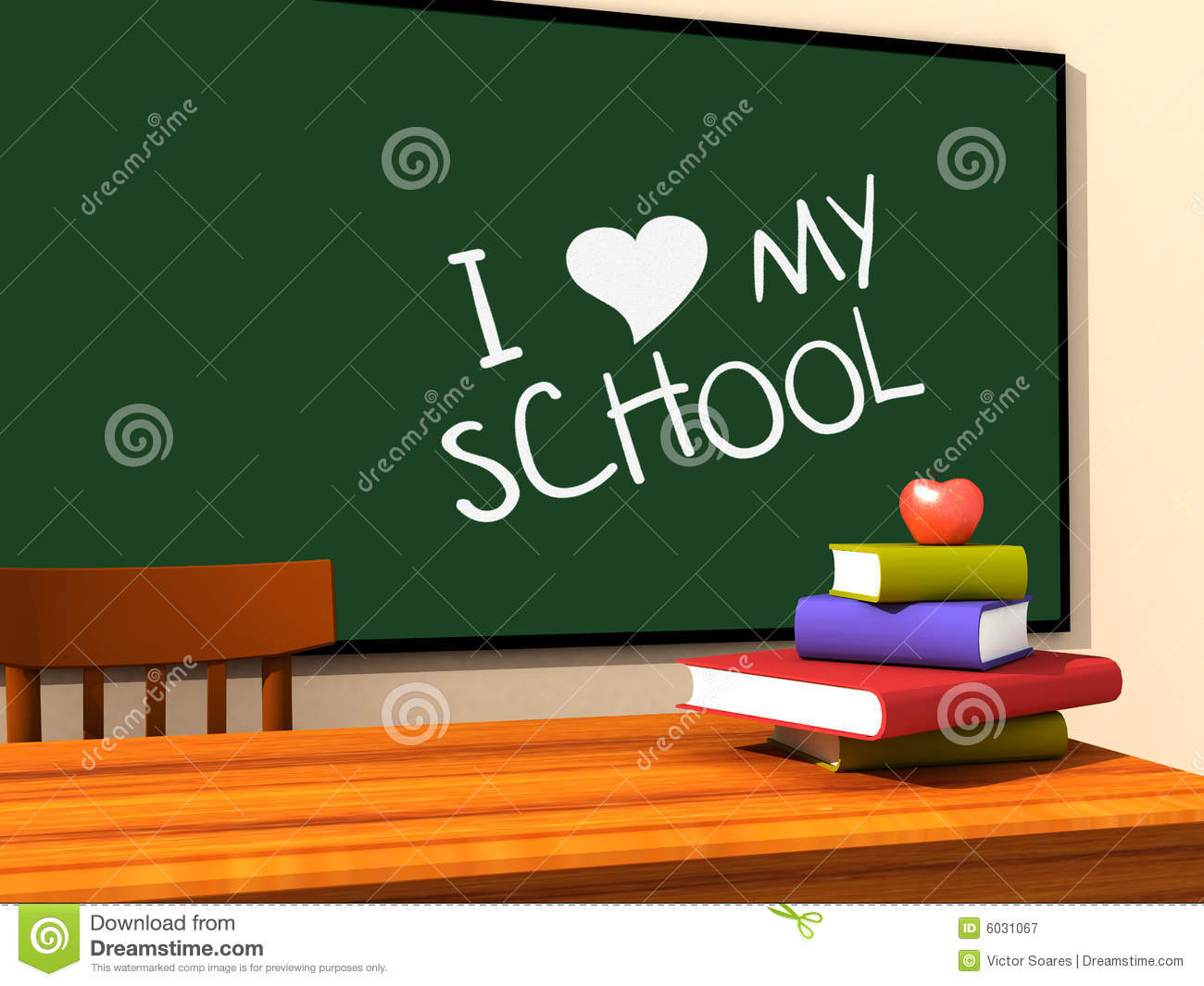 I Love My School Stock Illustration Illustration Of