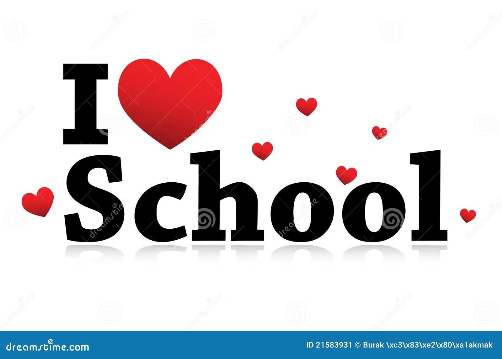 I Love School Icon Stock Image