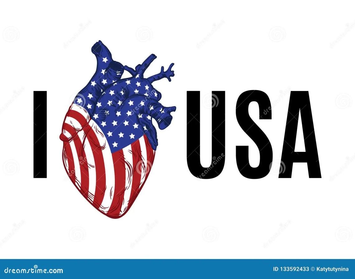 Download I Love USA. Creative Artwork. Stock Vector - Illustration ...