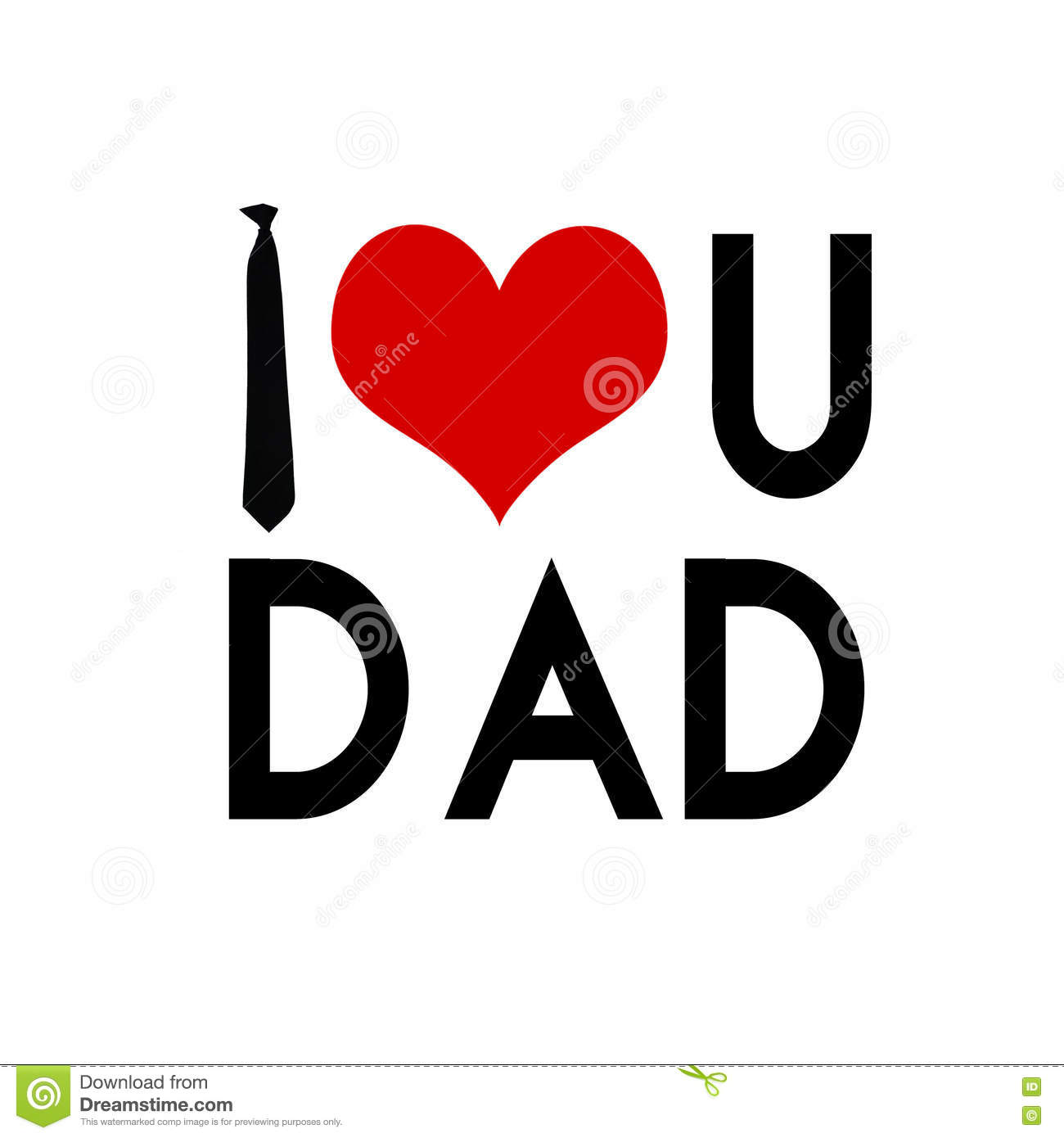 I Love You Dad Father S Day Card Stock Photo