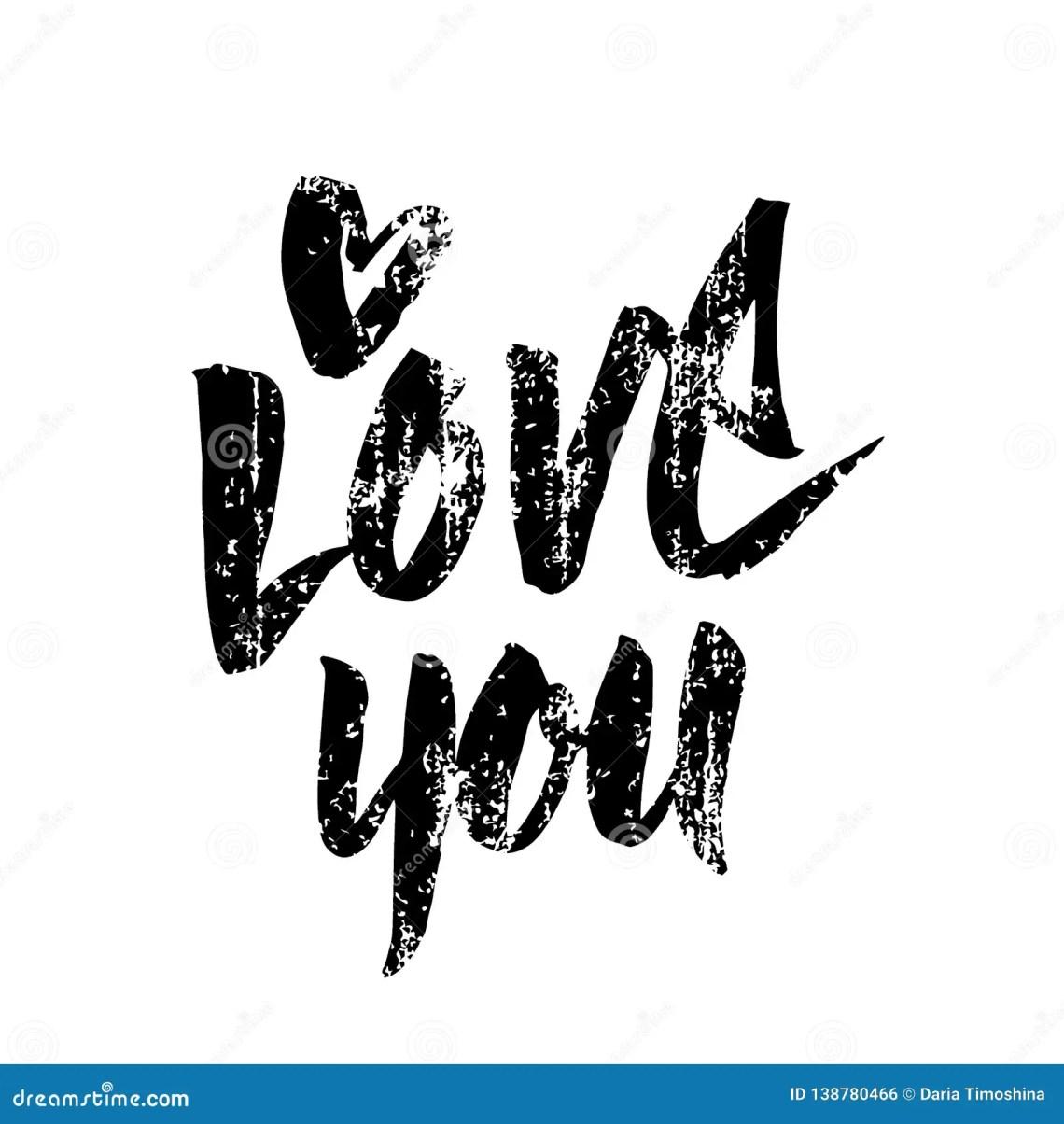 Download I Love You Handwritten Inscription. Valentines Day Hand ...