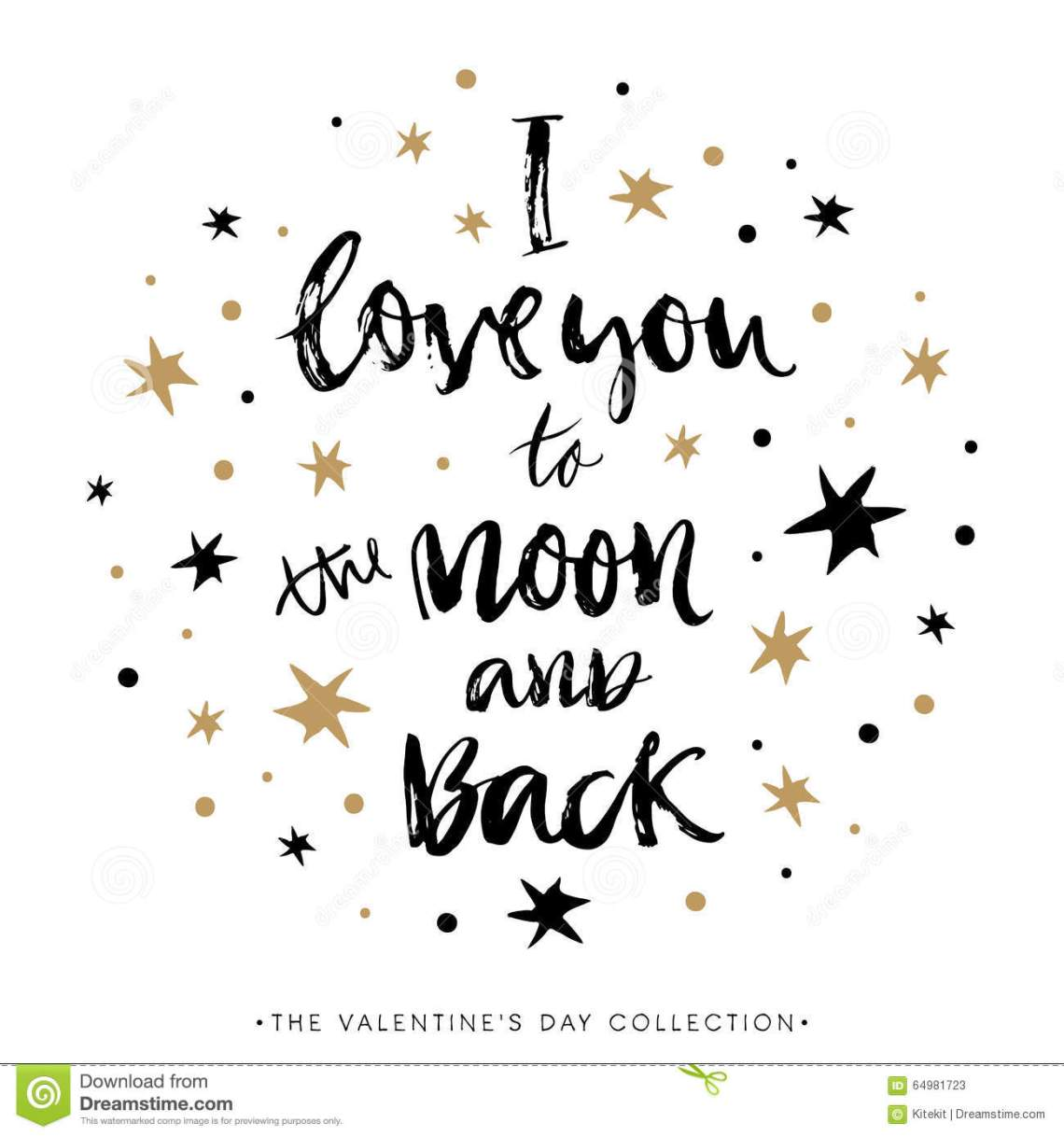 Download I Love You To The Moon And Back. Valentines Day ...