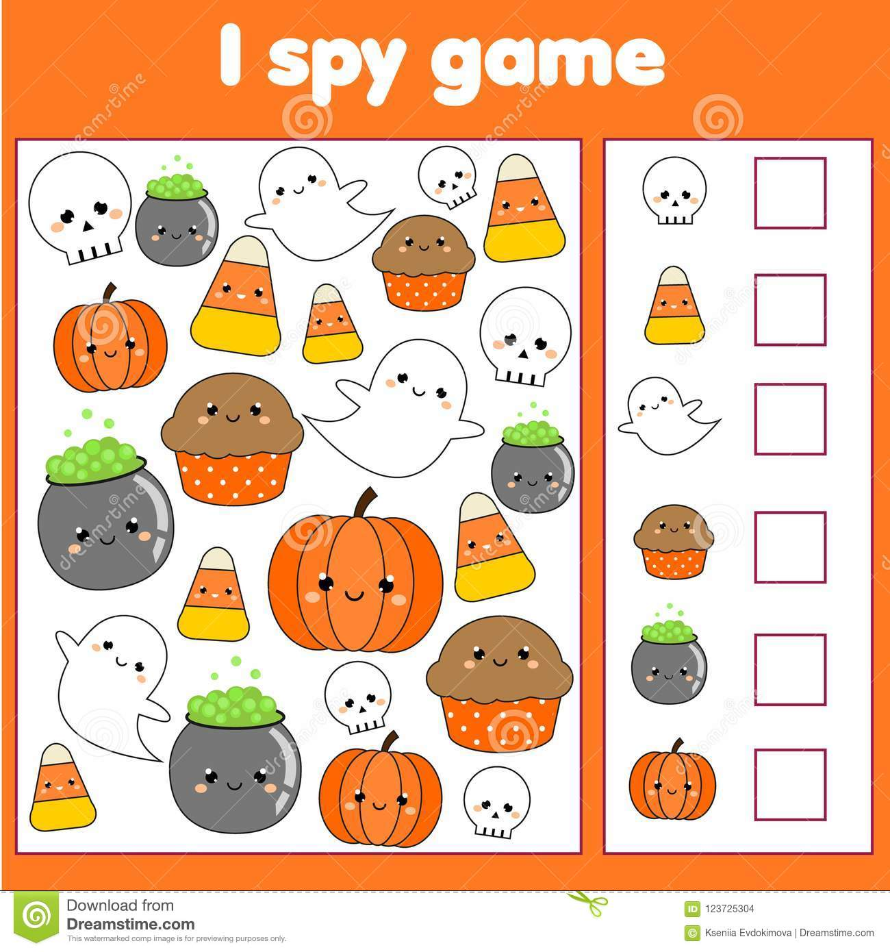 I Spy Game For Toddlers Find And Count Objects Counting Educational Children Activity