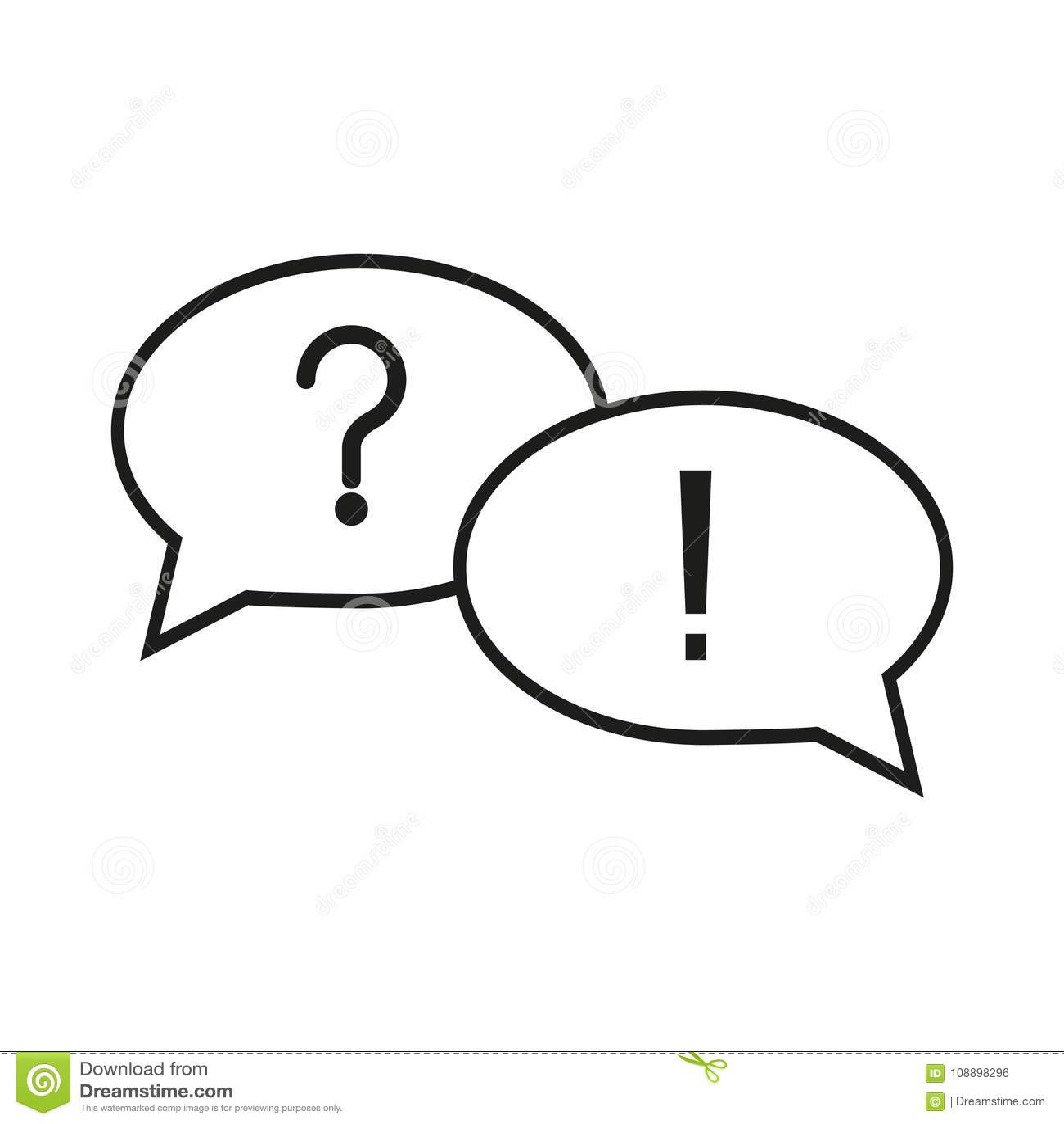 Icones Question Reponse Illustration De Vecteur