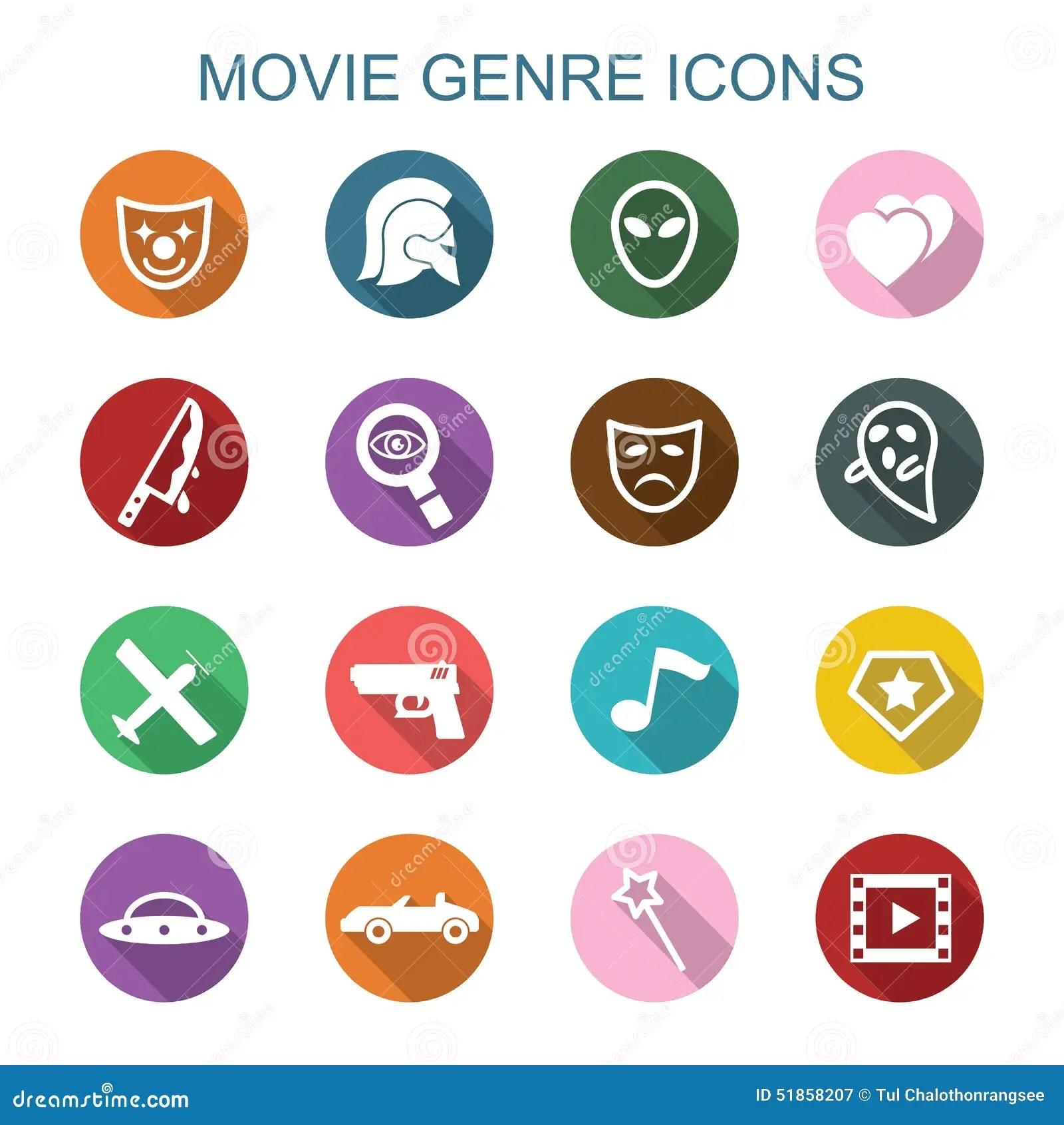 Icones D Ombre De Genre De Film Longues Illustration De