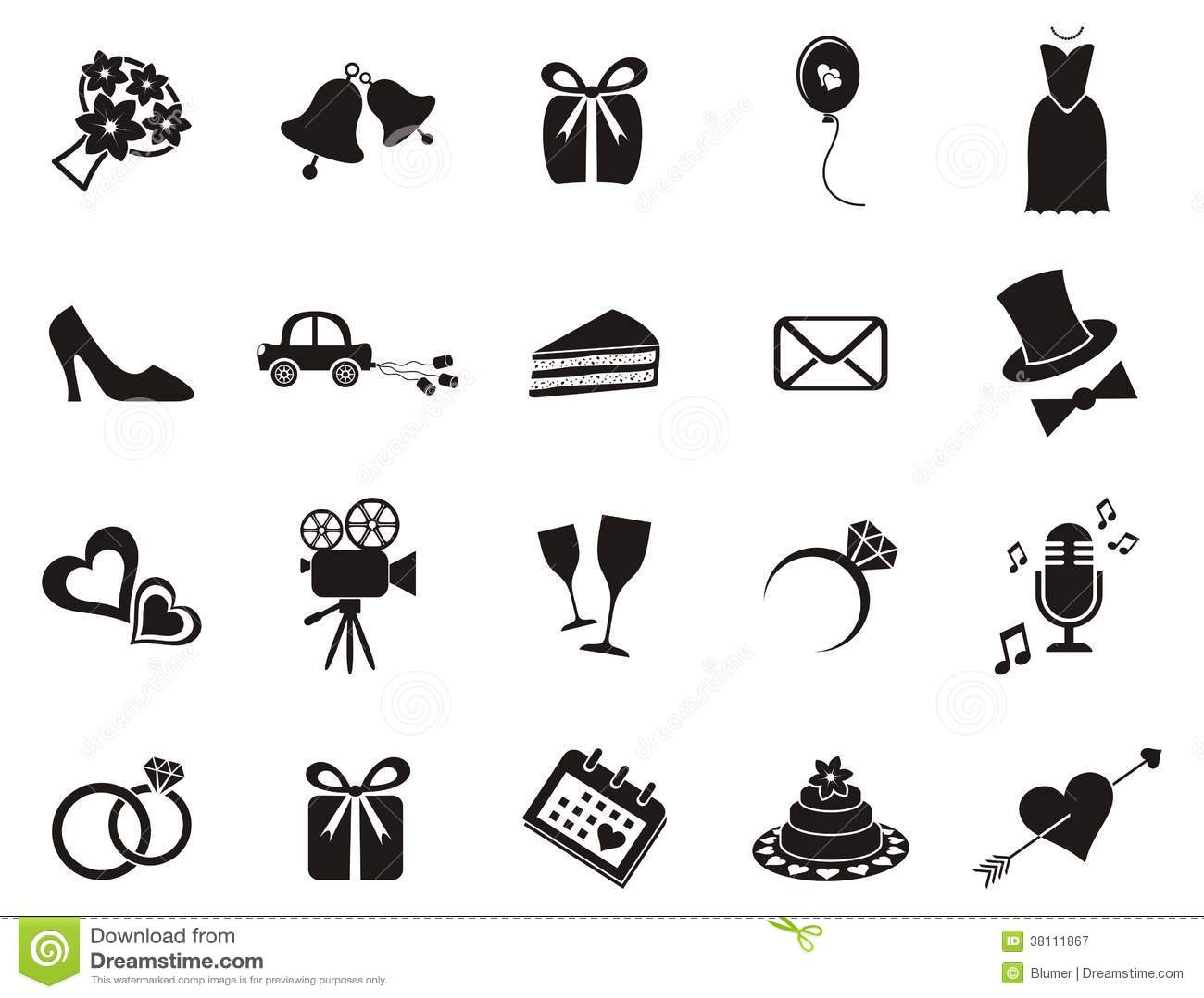 Icones De Mariage Illustration De Vecteur Illustration Du