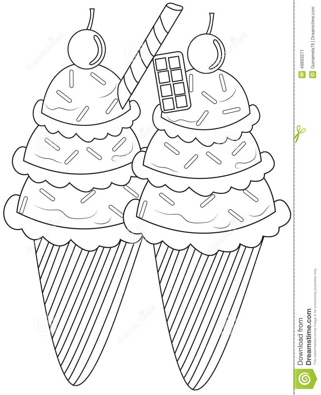 ice cream float coloring sheet coloring pages
