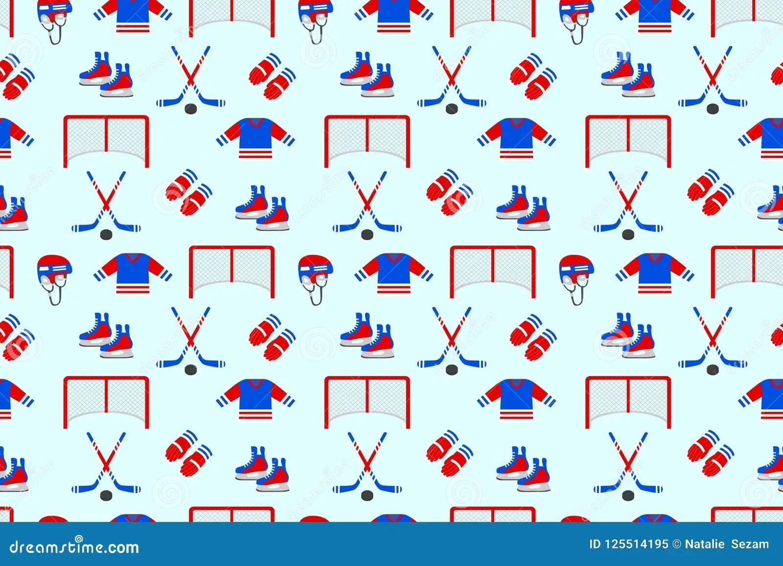 Ice Hockey Samless Pattern Vector Background Men S Ice
