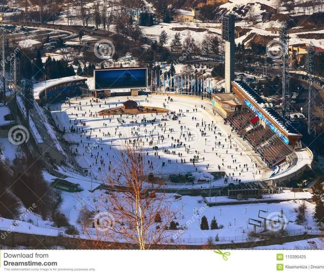 Ice Rink Medeo In Almaty Kazakhstan