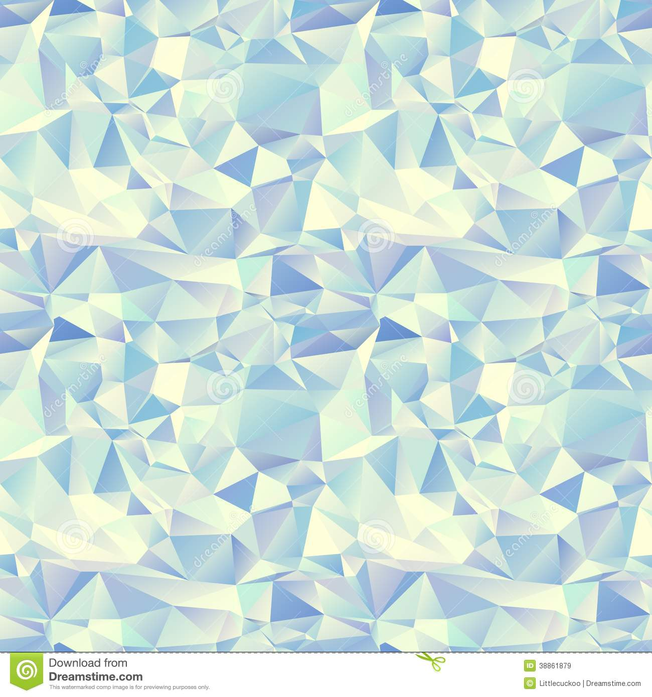 Ice Seamless Pattern Crystal Background Stock Vector