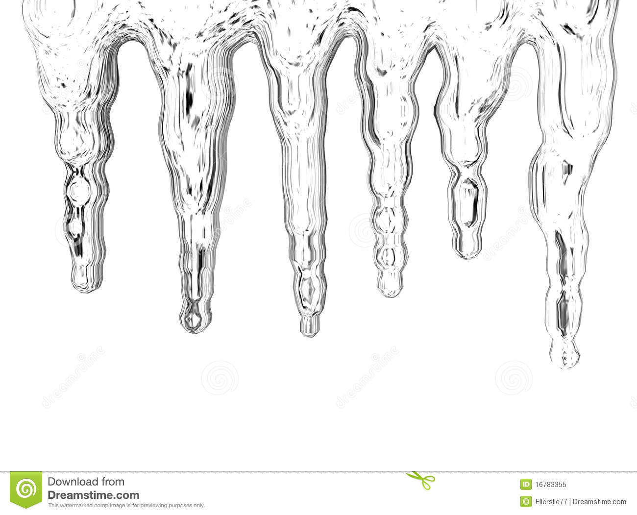 Icicles Stock Illustration Illustration Of Winter Water