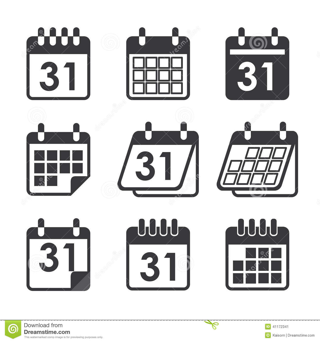 Icon Calendar Stock Vector