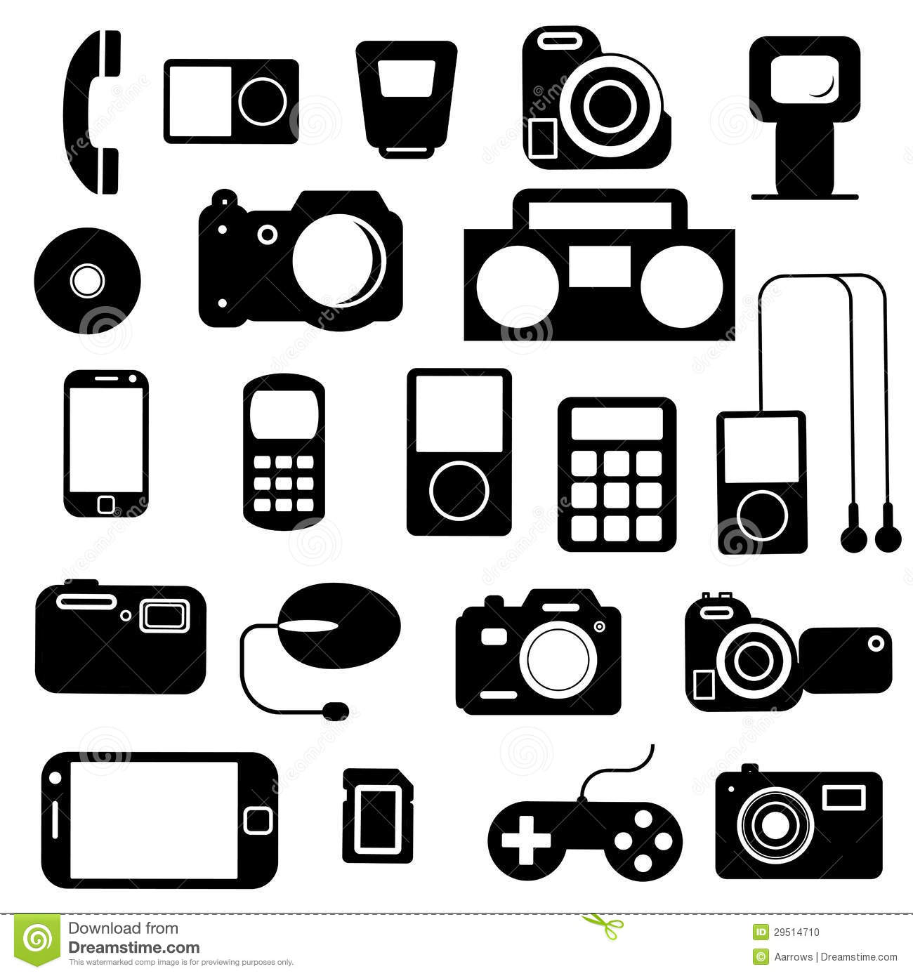 Icon With Electronic Gadgets Stock Vector