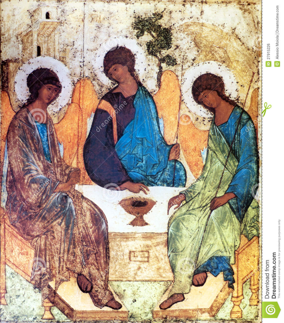 Icon Of The Holy Trinity Stock Illustration Illustration