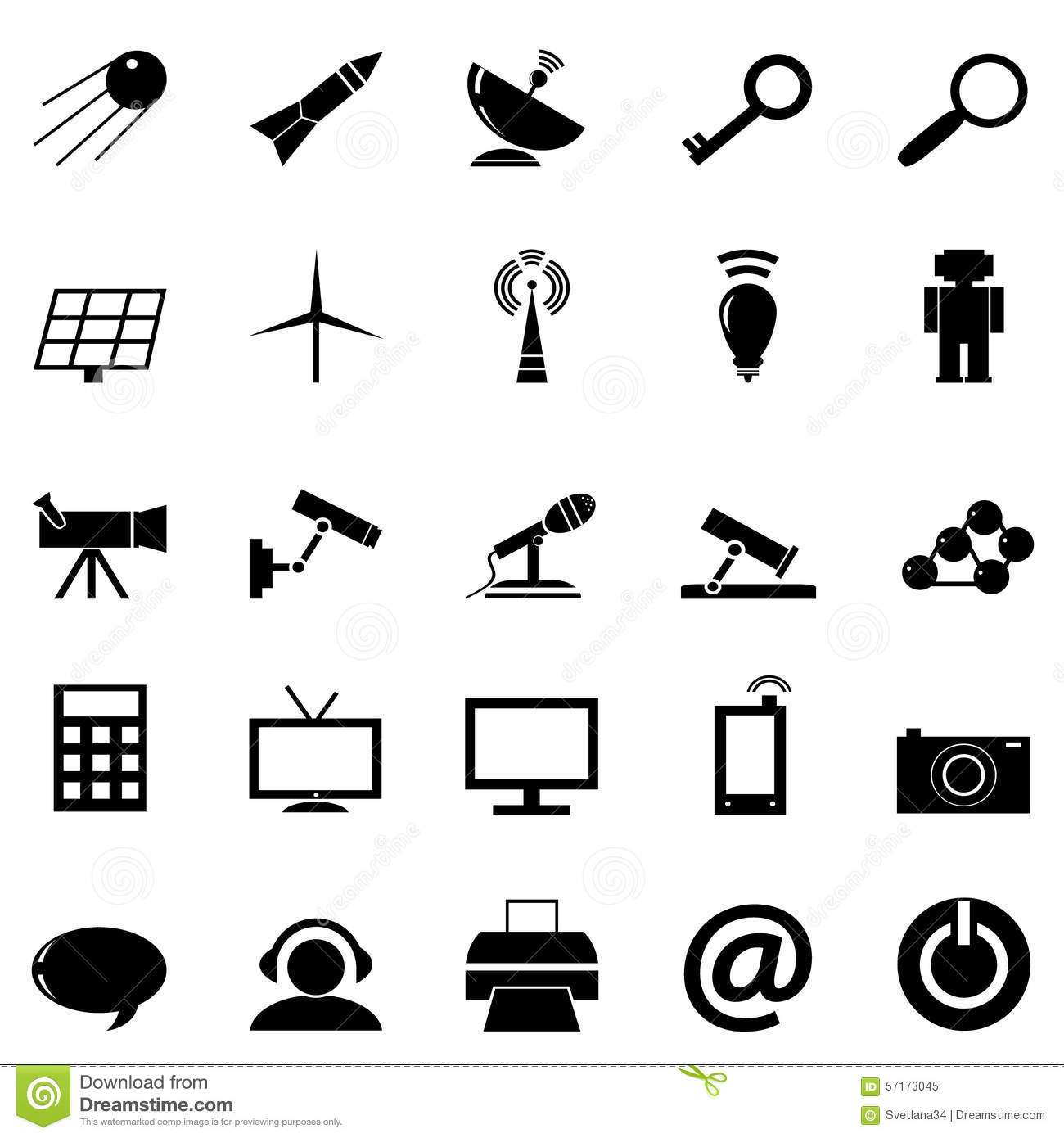Icon Technology Stock Vector Illustration Of Business