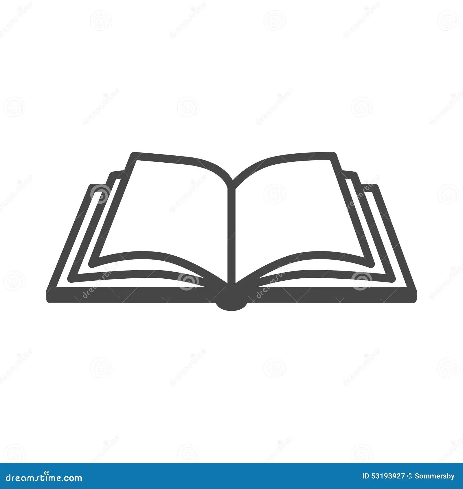 Icona Di Vettore Del Libro Aperto Illustrazione Vettoriale