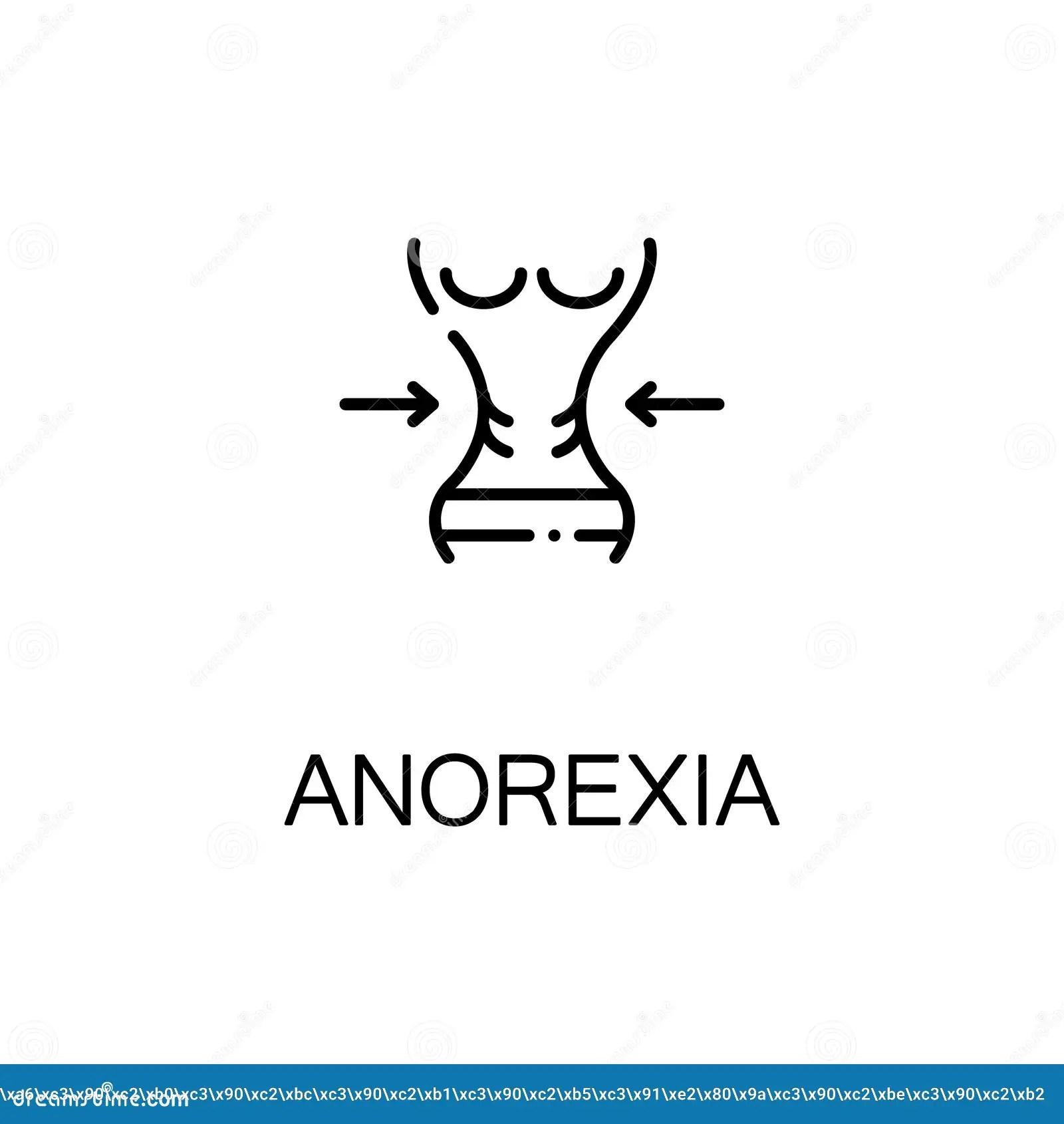 Icona O Logo Piana Di Anoressia Per Web Design
